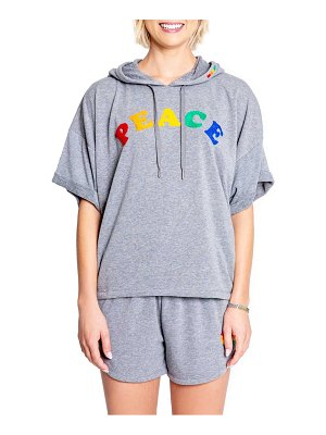 PJ Salvage luv rules hooded sweatshirt