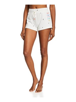 PJ Salvage Skull Doodle Embroidered Shorts