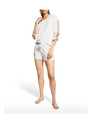 PJ Salvage Suns Out Striped Lounge Shorts