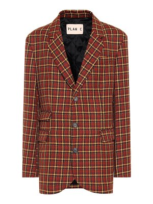 Plan C checked wool blazer