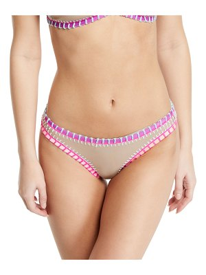 Platinum Inspired by Solange Ferrarini Crochet-Trim Hipster Bikini Bottoms