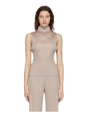 Pleats Please Issey Miyake brown monthly colors april turtleneck