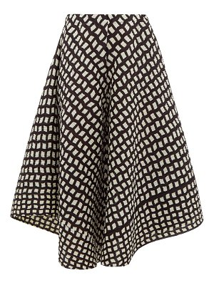 Pleats Please Issey Miyake check-print technical pleated culottes