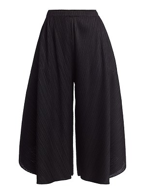 Pleats Please Issey Miyake curved layered culottes