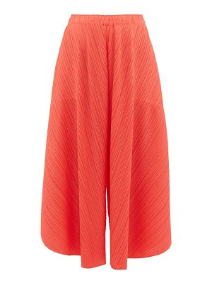 Pleats Please Issey Miyake curved pleated culottes