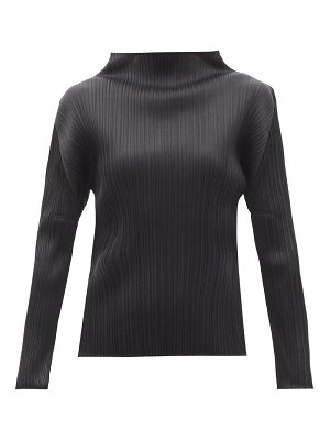 Pleats Please Issey Miyake high-neck technical-pleated top