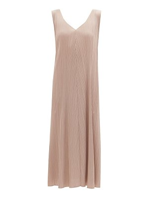 Pleats Please Issey Miyake knotted-strap technical-pleated dress