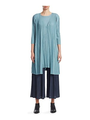 Pleats Please Issey Miyake mellow pleats long loose jacket