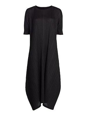 Pleats Please Issey Miyake monthly colors february midi dress