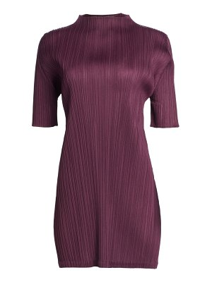 Pleats Please Issey Miyake monthly colors september mockneck tunic