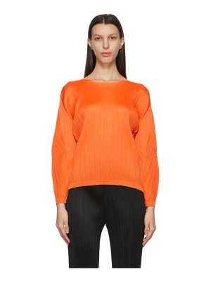 Pleats Please Issey Miyake orange monthly colors january sweater