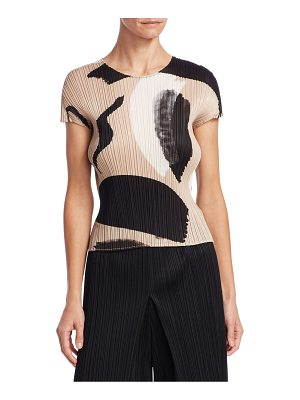 Pleats Please Issey Miyake pleated brushstroke top