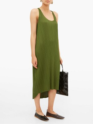 Pleats Please Issey Miyake scoop-neck pleated dress