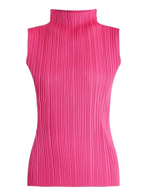Pleats Please Issey Miyake Sleeveless pleated top