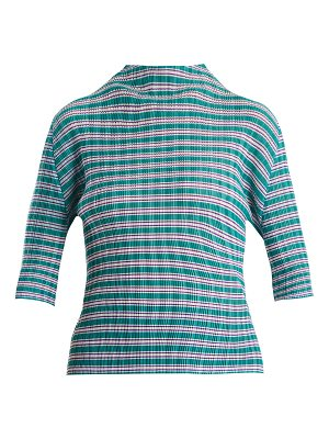 Pleats Please Issey Miyake Striped pleated top