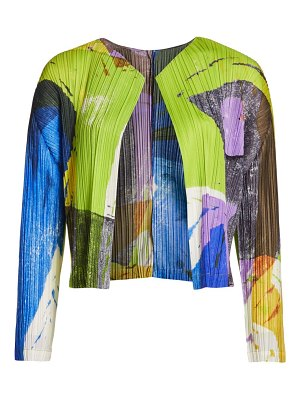 Pleats Please Issey Miyake swing pleat jacket