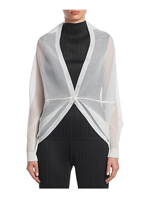 Pleats Please Issey Miyake tatami june mesh long sleeve jacket