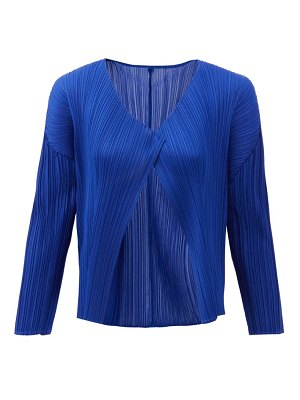 Pleats Please Issey Miyake technical-pleated cardigan