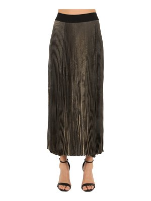 POIRET Pleated lamè skirt