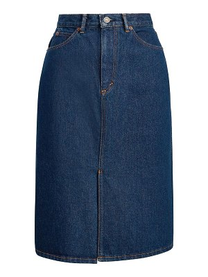 Polo Ralph Lauren a-line denim midi skirt