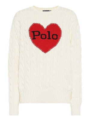 Polo Ralph Lauren cable-knit intarsia cotton sweater
