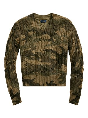 Polo Ralph Lauren camo cable knit sweater
