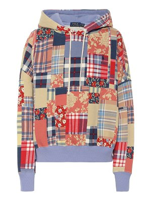 Polo Ralph Lauren checked cotton-blend hoodie