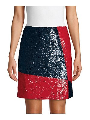 Polo Ralph Lauren colorblock sequin mini skirt