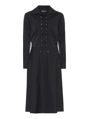 Polo Ralph Lauren Cotton lace-up dress