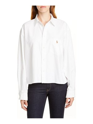 Polo Ralph Lauren crackle logo button-up cotton shirt