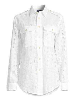 Polo Ralph Lauren eyelet linen button-down shirt