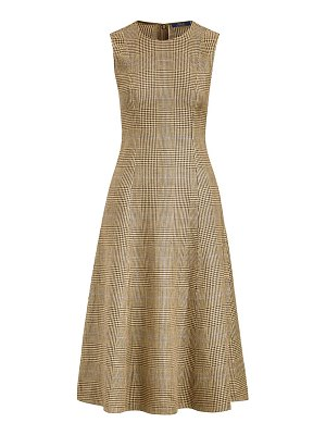 Polo Ralph Lauren glen check sleeveless fit & flare dress