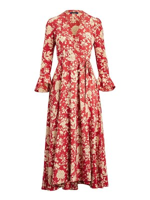 Polo Ralph Lauren harlow long-sleeve floral maxi wrap dress