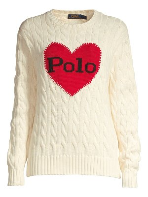 Polo Ralph Lauren heart cable-knit cotton sweater