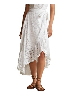 Polo Ralph Lauren High-Low Eyelet Cotton Lace Skirt