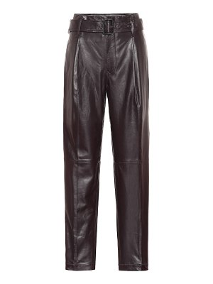 Polo Ralph Lauren high-rise straight leather pants