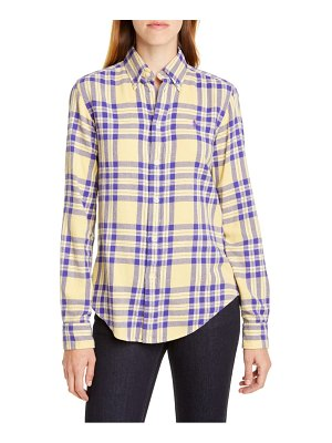 Polo Ralph Lauren logo plaid shirt