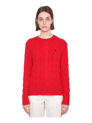 Polo Ralph Lauren Merino wool & cashmere cableknit sweater