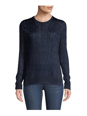 Polo Ralph Lauren metallic cable-knit sweater