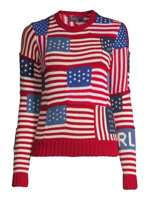 Polo Ralph Lauren novelty flag-patch polo sweater