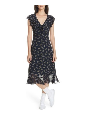 Polo Ralph Lauren ruffled floral midi dress