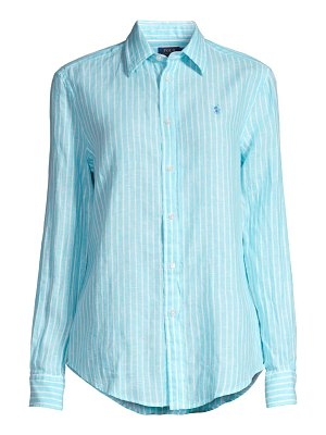 Polo Ralph Lauren striped linen button-down shirt