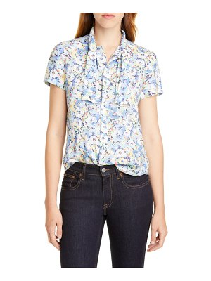 Polo Ralph Lauren tie neck floral blouse