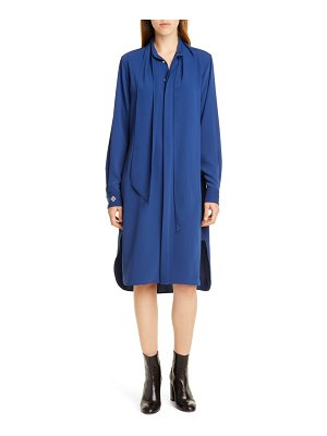 Polo Ralph Lauren tie neck long sleeve shirtdress