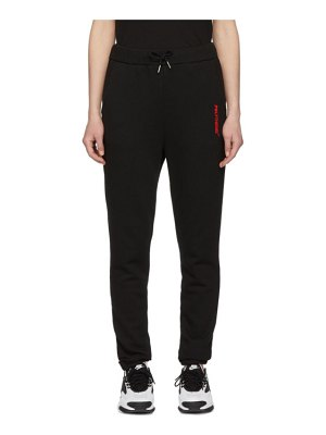 Polythene* Optics black fleece logo lounge pants