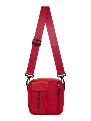 Polythene* Optics red essential crossbody bag