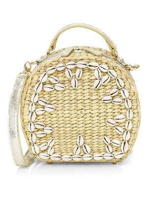Poolside the ariana shell embellished woven box shoulder bag