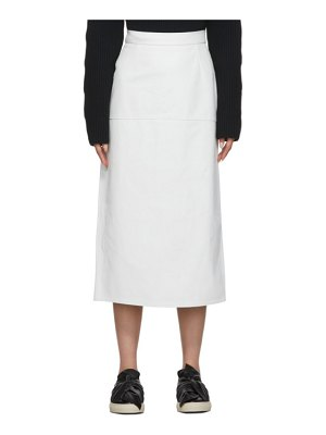 Ports 1961 white long leather skirt