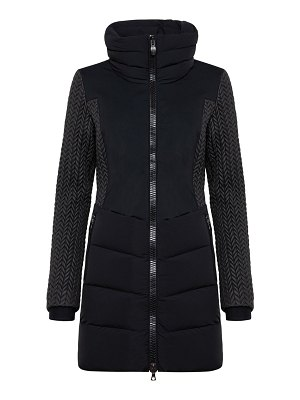 Post Card siguan longline quilted down jacket