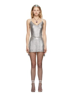 Poster Girl ssense exclusive silver adrianne dress